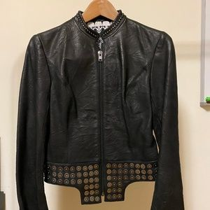 AUTHENTIC Thomas Wylde Distressed Leather Jacket